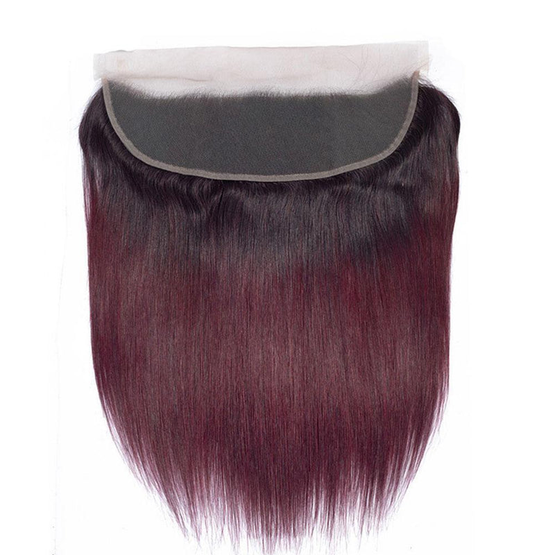 JUSTWIG® | Human Hair| Red 16-24 Inch StraightWig| 360 Lace