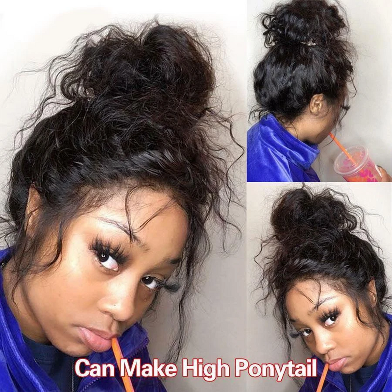 JUSTWIG® | Brazilian curly high ponytail 360 Lace Frontal Wigs | Human Hair | BEST SELLING