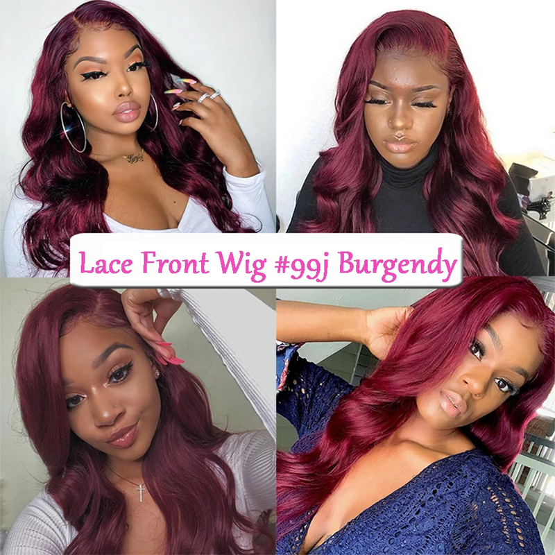 JUSTWIG® | Brazilian Preferred Red Curly 360 Lace Wigs Front For Black Women | Human Wig | Red Wig