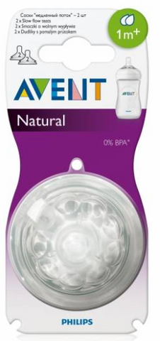 Avent Spenen Natural (Slow,- Medium- en Fast Flow) - 2 stuks