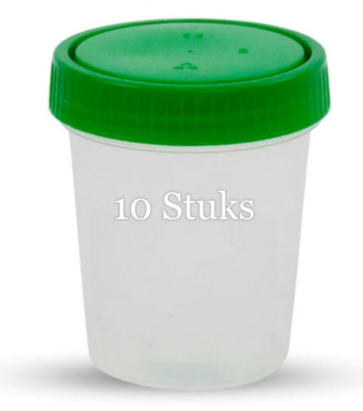 Urine containers -  Urinebekers Transparant 10 stuks