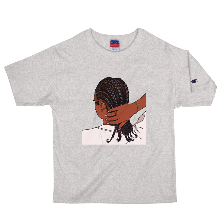 Chick Wit Da Braids - Unisex Champion Tee