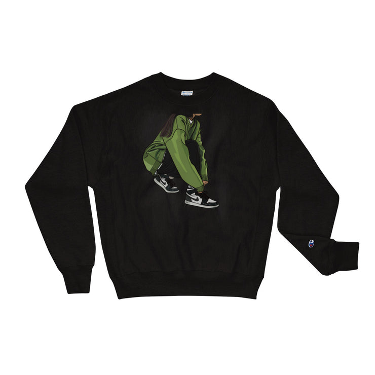 Tying Sneakers - Unisex Champion Sweatshirt