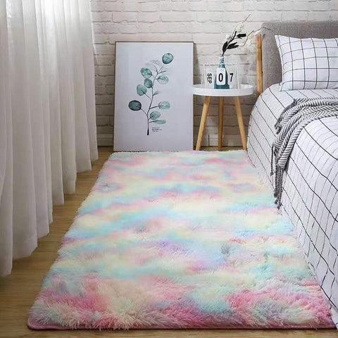 Shopptique Super Soft Faux Sheepskin Fur Area Rugs for Bedroom Floor Shaggy Plush Carpet Faux Fur Rug Bedside Rugs