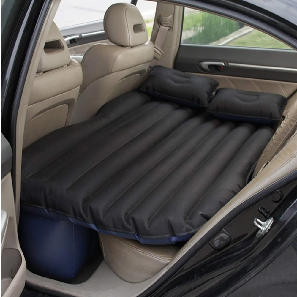 Inflatable Car Air Mattress Bed For Back Seat Black - Shopptique
