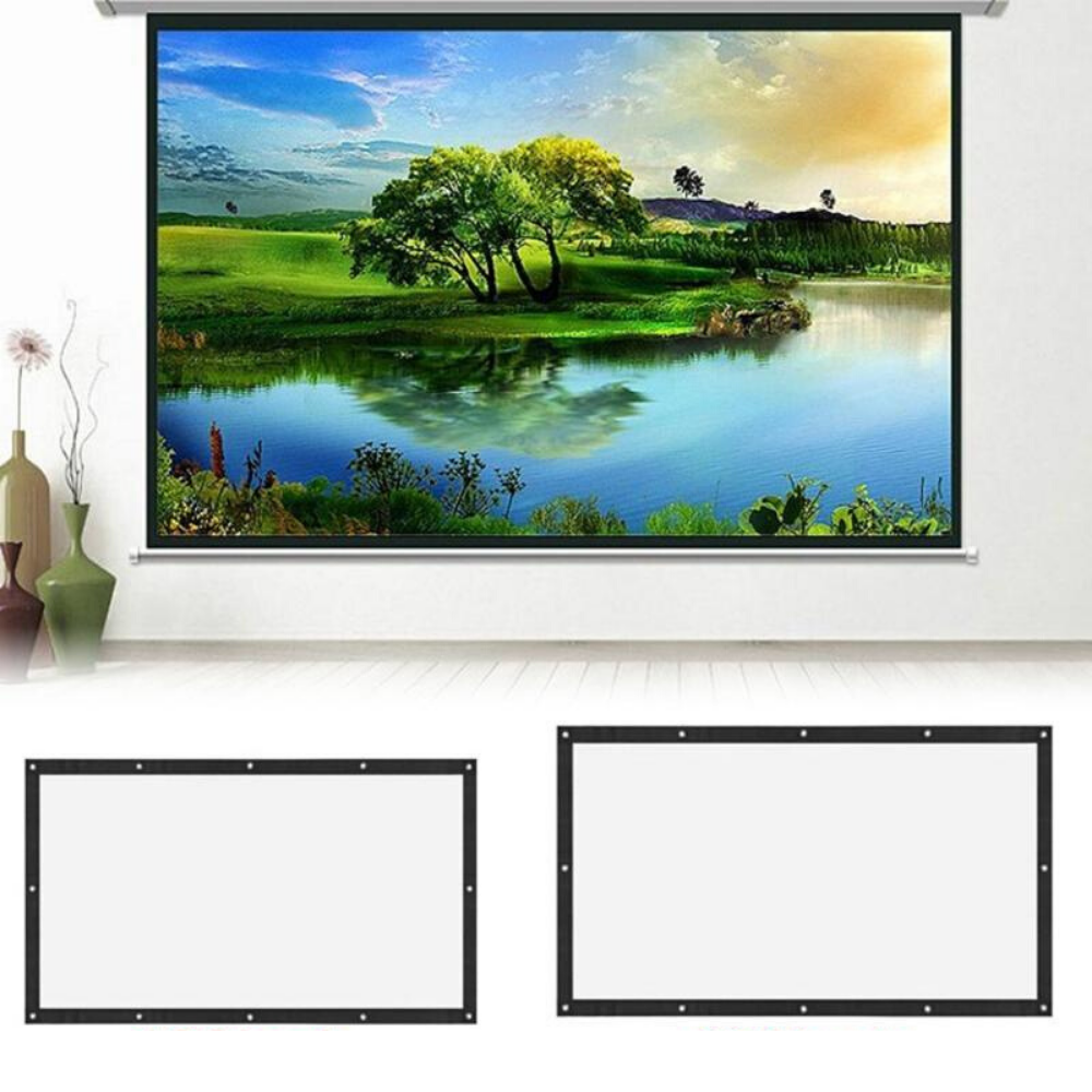 Portable Home Theater Projector Screen 4K 120 inch - Shopptique
