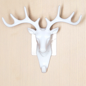 Deer Head Key Holder Hooks For Wall White - Shopptique