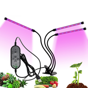 Plant LED Indoor Grow Lights 3 Heads - Shopptique