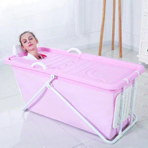Portable Stand Alone Foldable Bathtub Spa Pink - Shopptique