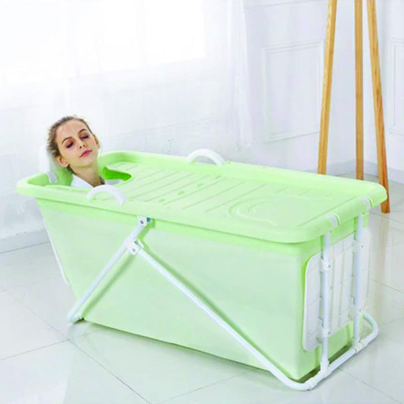 Portable Stand Alone Foldable Bathtub Spa Green - Shopptique