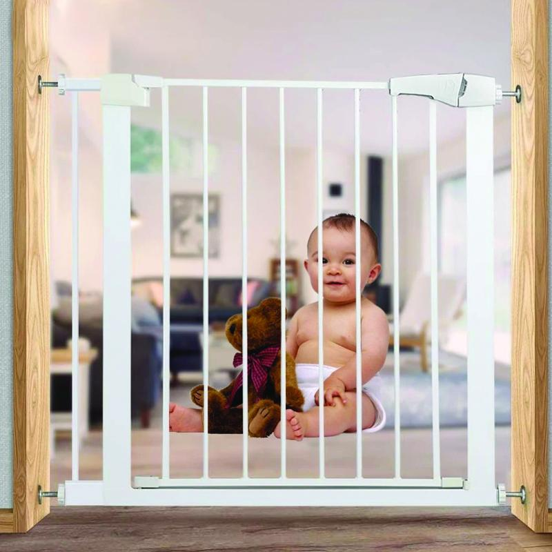 Wide Baby Walk Through Fence Gate With Door Pressure Mounted Gate and 21cm - Shopptique