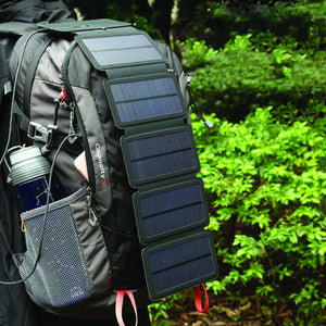 Portable Solar Powered Charger Panel Foldable 4 Solar Panels - Shopptique