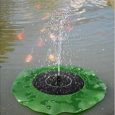 Solar Powered Leaf Shaped Garden Bird Bath Water Fountain Pump - Shopptique