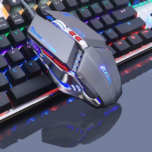 Wired Light RGB PC Gaming Mouse Silver - Shopptique