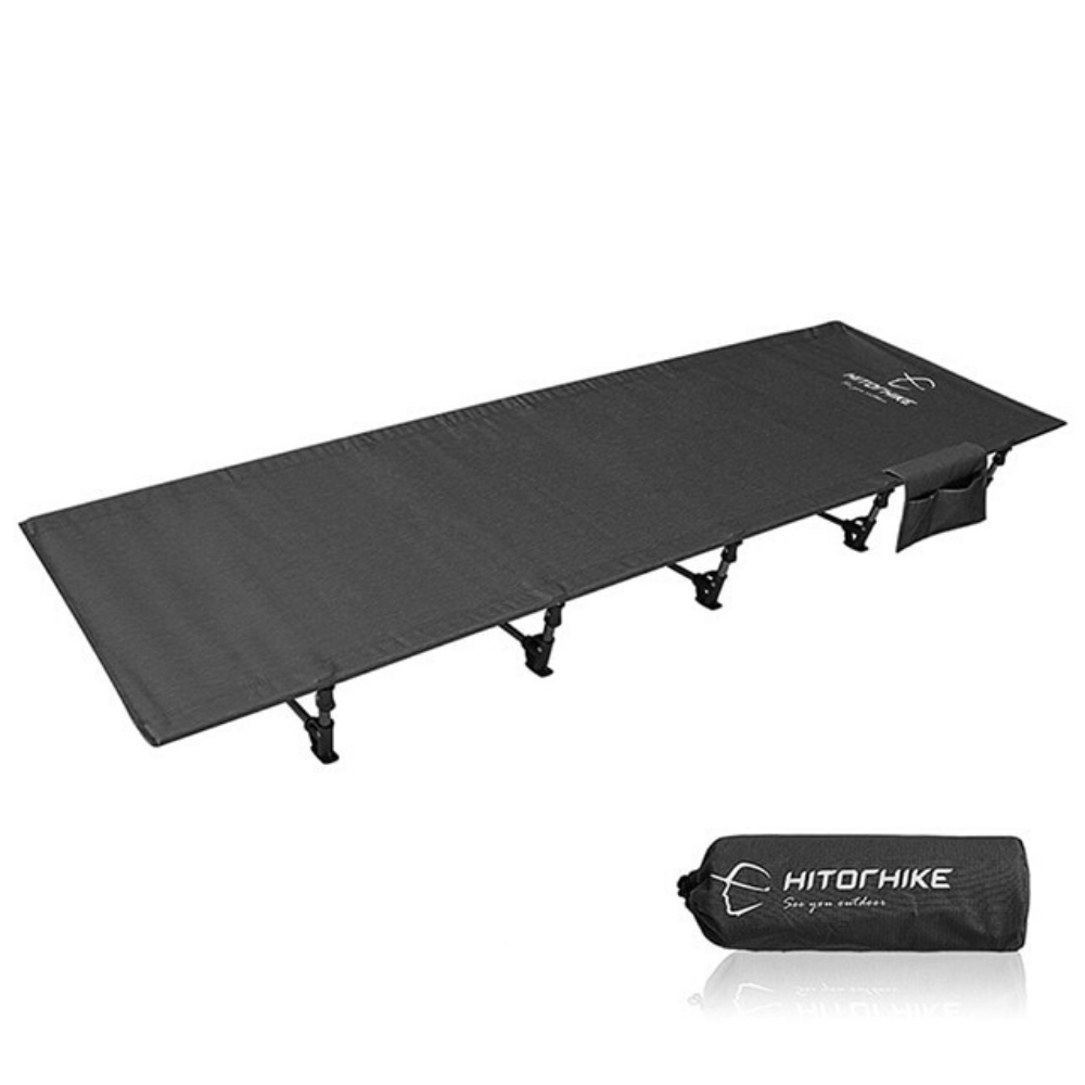 Portable Folding Camping Cot Sleeping Bed Black - Shopptique