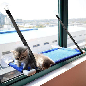 Cat Window Perch Hammock Bed Seat Blue / 60cm x 35cm x 35cm - Shopptique