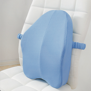 Lumbar Back Support Pillow Cushion For Chairs Blue - Shopptique