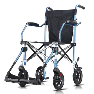 Premium Portable Foldable Heavy Duty Transport Wheelchair Lightweight - Shopptique