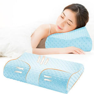 Anti Snore Sleep Apnea Pillow Blue / 50x30cm - Shopptique