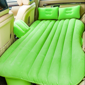 Inflatable Car Air Mattress Bed For Back Seat Green - Shopptique