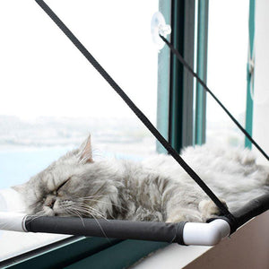 Cat Window Perch Hammock Bed Seat Black / 60cm x 35cm x 35cm - Shopptique