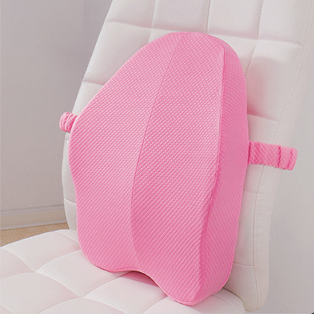 Lumbar Back Support Pillow Cushion For Chairs Pink - Shopptique