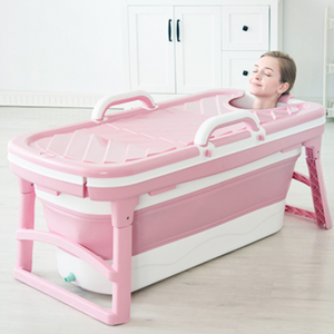 Portable Stand Alone Bathtub For Adults 4.5 feet / Pink - Shopptique