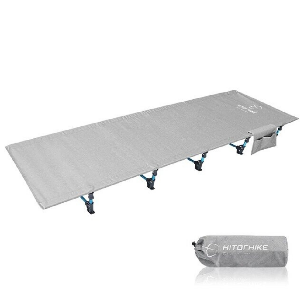Portable Folding Camping Cot Sleeping Bed Grey - Shopptique