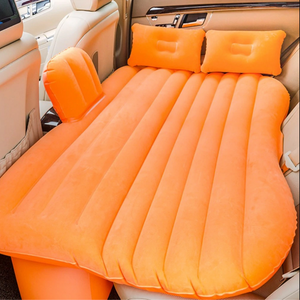 Inflatable Car Air Mattress Bed For Back Seat Orange - Shopptique