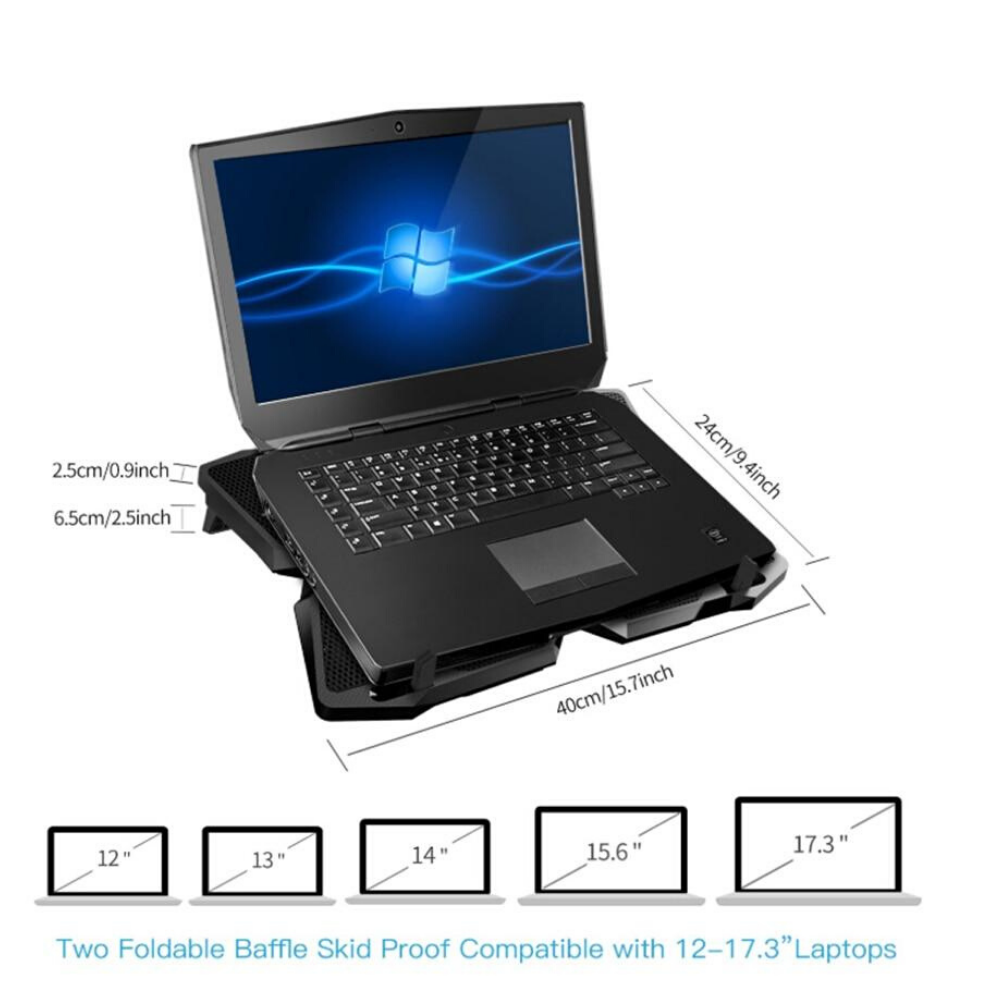 Laptop Cooling Pad Stand With Four Fans - Shopptique