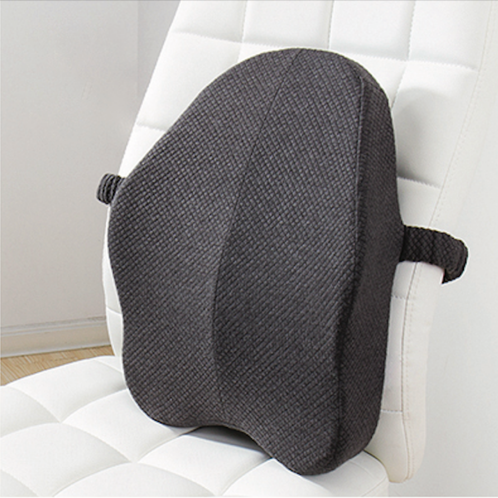 Lumbar Back Support Pillow Cushion For Chairs Gray - Shopptique
