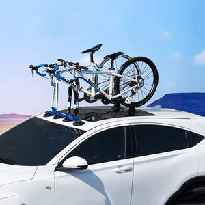 Heavy Duty Car Bicycle Carrier Roof Mounted Holder Rack Blue - One Bike - Shopptique