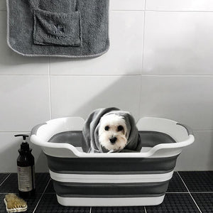 Heavy Duty Portable Wash Bathtub For Dogs Dog Tub Gray - Shopptique