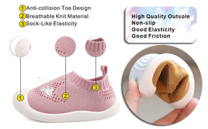 BabyFirst Toddler Training Sneaker Baby First-Walking Shoes 1-4 Years Kid Shoes Trainers Toddler Infant Mesh Breathable Lightweight Slip-on Sneakers - Shopptique