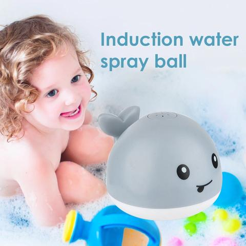 2 in 1 Baby Bath Toy bathroom water spray toy - Led Light Water Spray Ball Baby Bath Water Toys Automatic Induction Toys - Shopptique