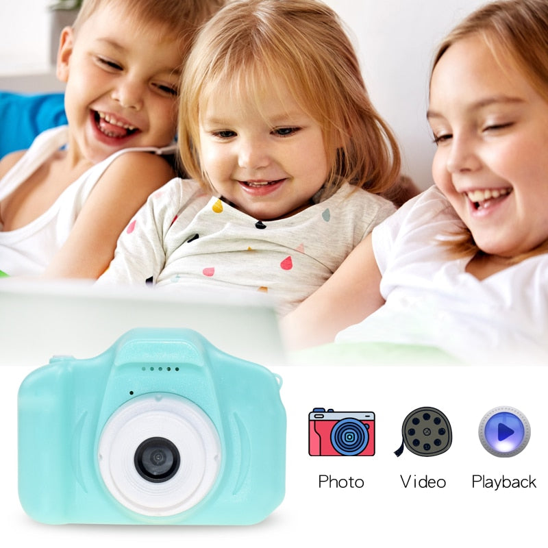 EduKids Digital Video Camera For Kids Children Kids Camera Mini Educational Toys For Children Baby Gifts Birthday Gift Digital Camera 1080P Projection Video Camera Blue - Shopptique