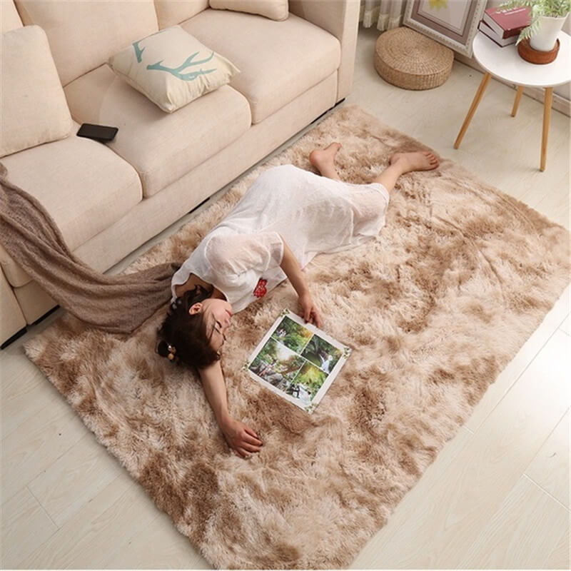 "Fluffy™ Super Soft Luxurious Carpet Shopptique Super Soft Faux Sheepskin Fur Area Rugs for Bedroom Floor Shaggy Plush Carpet Faux Fur Rug Bedside Rugs Camel / Small - 50cm X 80cm (20"" X 30"") - Shopptique"