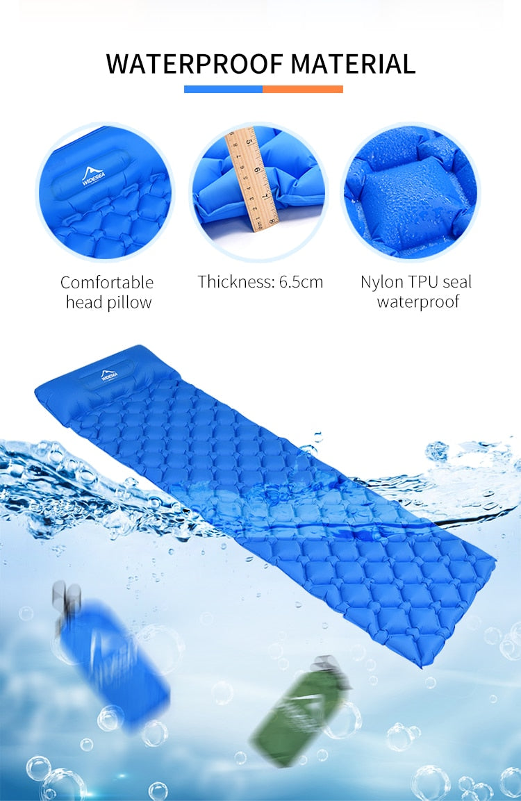 QuickSleep Premium Sleeping Mat Blue - Shopptique