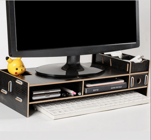 Computer Monitor Riser Mount Stand With Drawer Black - Shopptique