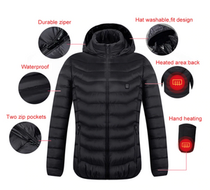 Snap On Heated Electric Jacket Battery Operated - Shopptique