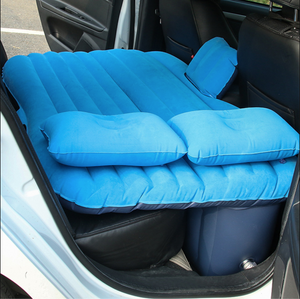 Inflatable Car Air Mattress Bed For Back Seat Blue - Shopptique