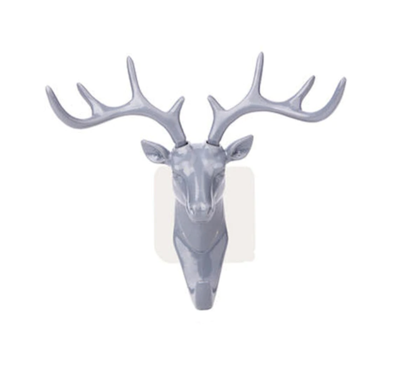 Deer Head Key Holder Hooks For Wall Gray - Shopptique