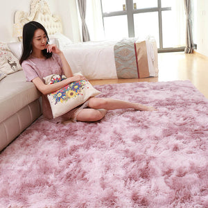 "Fluffy™ Super Soft Luxurious Carpet Shopptique Super Soft Faux Sheepskin Fur Area Rugs for Bedroom Floor Shaggy Plush Carpet Faux Fur Rug Bedside Rugs Dark Pink (New) / Small - 50cm X 80cm (20"" X 30"") - Shopptique"