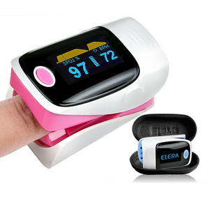 Finger Blood Heart Rate Pulse Oximeter Pink - Shopptique