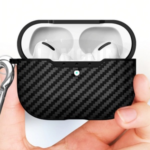 Carbon Fiber Airpods Pro Case Protective Cover Black - Shopptique