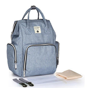 Multi-functional USB Maternity Diaper Backpack Best Diaper USB Bags - Nursing Bags - Diaper Bag Backpack Blue - Shopptique