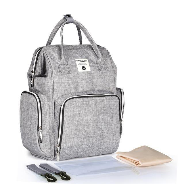 Multi-functional USB Maternity Diaper Backpack Best Diaper USB Bags - Nursing Bags - Diaper Bag Backpack Grey - Shopptique