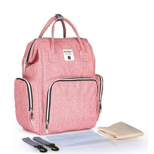 Multi-functional USB Maternity Diaper Backpack Best Diaper USB Bags - Nursing Bags - Diaper Bag Backpack Rose Pink - Shopptique
