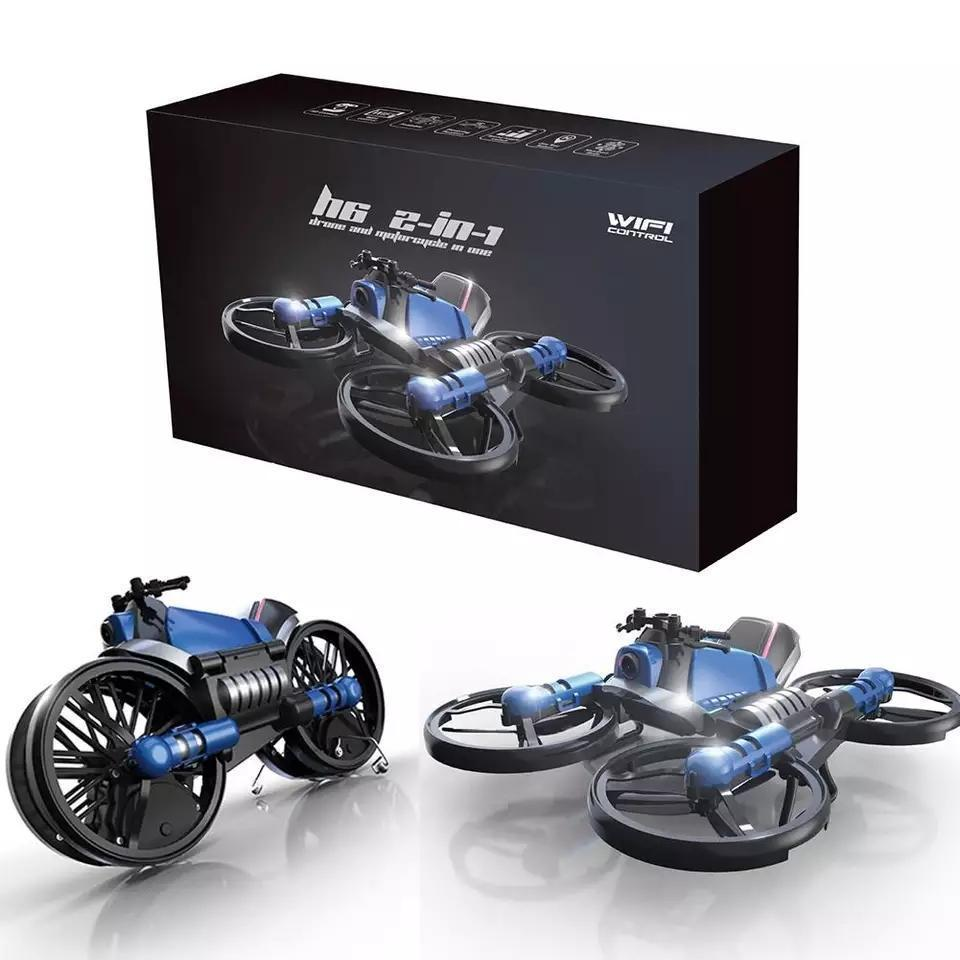 Multi-functional Folding Motorcycle Drone Best Drone For Kids - Motorcycle Flying Drone For Kids and Teenagers -Folding RC Drone & Folding Aircraft Quadcopter Toy - Shopptique