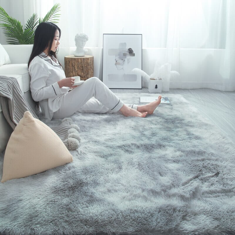 "Fluffy™ Super Soft Luxurious Carpet Shopptique Super Soft Faux Sheepskin Fur Area Rugs for Bedroom Floor Shaggy Plush Carpet Faux Fur Rug Bedside Rugs Light Grey / Small - 50cm X 80cm (20"" X 30"") - Shopptique"